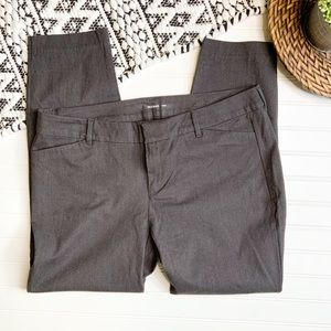OLD NAVY Pixy Grey slim ankle cropped pants